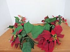 RED POINSETTIA 3 Foot SWAG