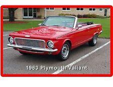 1963 Plymouth Valiant Convertible Auto Refrigerator / Tool Box  Magnet