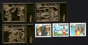 Olympic Canada 1976 set of stamps Mi#630-32 Gold MNH