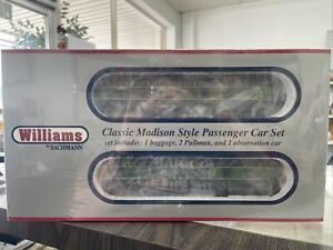Williams By Bachmann 0 Classic Madison Style Passenger Car Set Crescent Limited