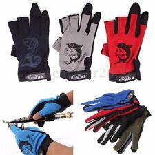 Gants Gloves de Pêche Respirant Anti-dérapant 3 Doigts Fishing Outil Extérieure