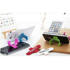 IPHONE IN 4 SUPPORTO PER SILICONE 4S 5 5S SAMSUNG GALAXY S4 S5 STAND ONE TOUCH q