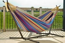 Combo – Double Cotton Hammock with Stand