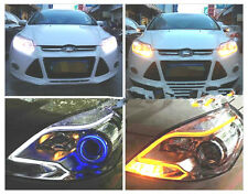 60Cm White & Yellow Car Bike Flexible AUDI TUBE LED Strip DAYTIME LIGHT DRL CIAZ