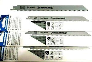 15 pcs Silverline 196500 240mm Bi-Metal Recipro Saw Blades 5TPI Universal Shank