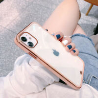 For iPhone 12 Pro Max 11 XR XS X 8 7 Plus Case Shockproof Clear TPU Phone Cover