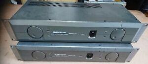 Samson Servo 150 Power Amplifier (x2)