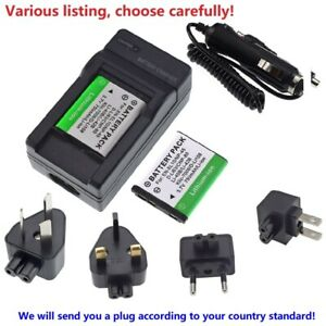 Replacement Battery or charger for Casio NP-80 NP-82 BC-80L Exilim EX-S6 EX-Z33
