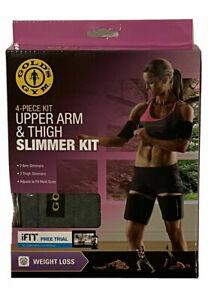 Gold's Gym 4-Piece UPPER ARM & THIGH SLIMMER KIT Exercise Fat Burner Belt *NEW*