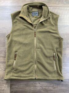 Cabelas Fleece Full Zip Green Vest Sz Med Tall