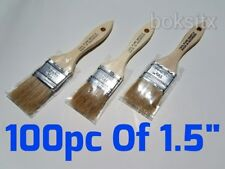 """100 Of 1.5"""" Chip Brush Brushes Perfect for Adhesives Paint Touchups"""