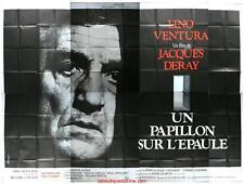 UN PAPILLON SUR L'EPAULE Affiche Cinéma GEANTE / WIDE Movie Poster LINO VENTURA