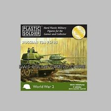 15mm Russian T34 T-34 76/85 Tanks x5 PSC PLASTIC SOLDIER COMPANY FREE SHIPPING
