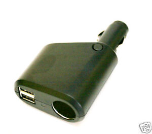 SEM-1S2USB: 12V Auto Plug to 12v Socket & 2 USB output
