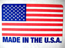250 2 x 3 MADE IN THE USA / USA FLAG LABEL STICKER