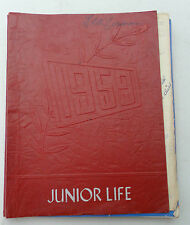 Vintage 1959 Chippewa Falls Junior Life Middle School Yearbook Wisconsin