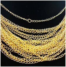 Wholesale 10pcs Gold plated chain finding 48cm,2mm G