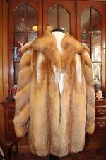 Beautiful Women's RED FOX Fur Coat XL 14/16 40 From Europe