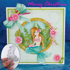 Mermaid Metal Dies Cutting Stencils Scrapbooking Card Album Craft Embossing