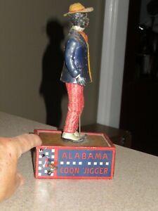 Vintage 1912 ALABAMA COON JIGGER Tin Litho Windup Toy~Tombo WORKS! Marke Lehmann