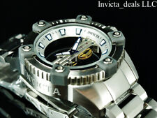 Invicta Men's 48mm ARSENAL GHOST BRIDGE Mechanical SILVER Tone Limited Ed Watch