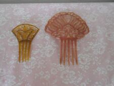 New listing Vintage Antique Fancy Hair Combs Celluloid Lot of 2 Estate