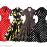 50s 60s Vintage Rockabilly Swing Housewife Party Evening Retro Dress Plus Size