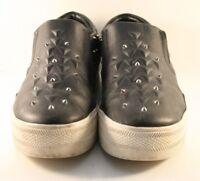 Ash Black Leather Joke Studded Fashion Sneakers Womens Size EUR 37 / US 7M