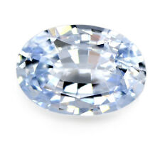 Certified Natural 1.08ct Ceylon Sapphire IF White Tinted Blue Flawless Oval Gem