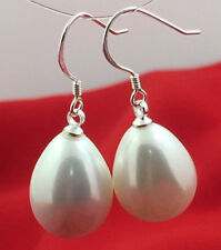 925 Sterlingsilber Tropfen Perle Perlen Ohrringe Ohrhänger Ohrschmuck