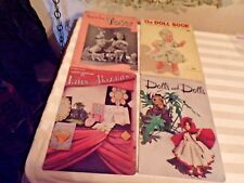 4 Vintage Craft Books-Dolls/ToysDoilies-C lark's and Star