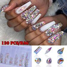 120pcs 3D AB Diamond Gems Nail Glitter Rhinestone Crystal Nail Art Decoration