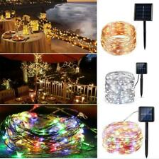 5M 10M 30M Outdoor Solar String Lights Waterproof LED Copper Wire Light String