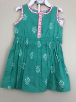 Carters Toddler Girl Dress Size 12 Months Sleeveless Floral Cinched Waist