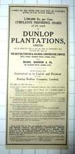 1927 Cumulative Shares Of £1 Each Of Dunlop Plantations Available
