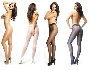 CROTCHLESS 20 DENIER SHEER GLOSS TIGHTS OPEN CROTCH GUSSET BY MISS O 4 COLOURS