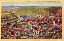 BIRD'S-EYE VIEW OF JOHNSTOWN, PA LOOKING EAST FROM INCLINE 1951
