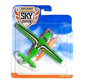 Matchbox 2019 Sky Busters CESSNA CARAVAN Die-Cast Airplane #12 SB-6B Green - NEW