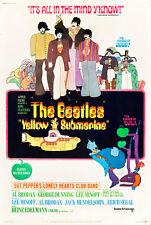 "The Beatles Yellow Submarine Movie Poster  Replica 13x19"" Photo Print"