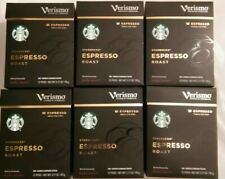 72 Starbucks Verismo Espresso Dark Roast  Pods BBD DEC/7/2018 , 6 boxes of 12