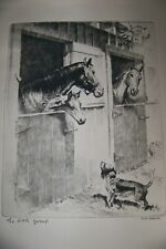 """Vintage """"The Little Gossip""""  by R. H. Palenske - Reproduced Etching."""