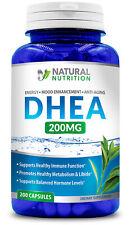 DHEA 200mg 200 Capsules Dietary Supplement Pharmaceutical Grade Gluten Free USA