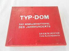 Altes Domino Spiel TYP DOM Typen Domino Bakelit Steine D.R.G.M Matthes Berlin