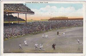 1926 Babe Ruth & Lou Gehrig New York Yankee Stadium Postcard