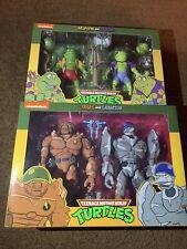 New NECA TMNT Teenage Mutant Ninja Turtles Rasputin / Traag TARGET 2 Pack Lot