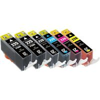 6PKs Ink Cartridges for Canon PGI-225BK CLI-226BK CLI-226C CLI-226M CLI-226Y