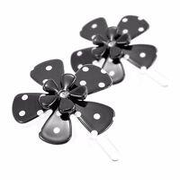 Moliabal Milano Barrette Black /& White RibbonFlowerRhinestones