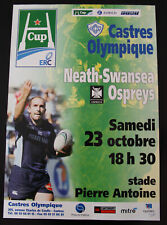 Affiche RUGBY - H CUP - saison 2004-2005 - CASTRES OLYMPIQUE / OSPREYS