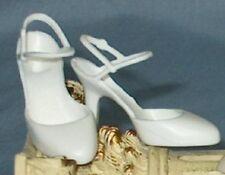 White Slingback strap pump shoes fit Franklin Mint Elizabeth Taylor Marilyn doll