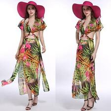 Unbranded Chiffon Short Sleeve Floral Dresses for Women